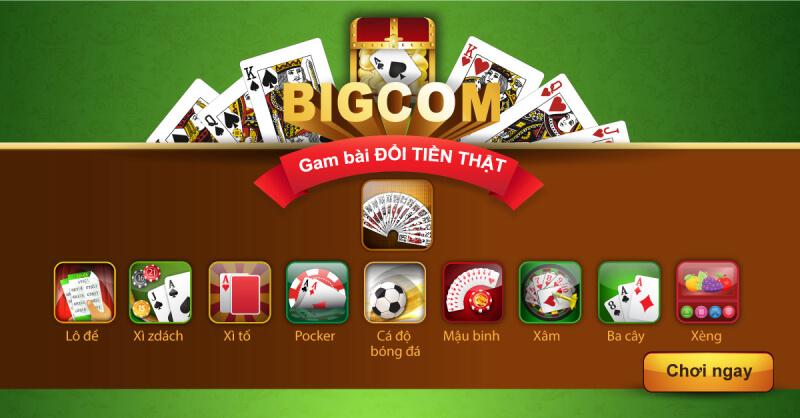 """Bigcom - Game bài đổi thưởng ăn thưởng """"cực chất"""" - Đánh bài cực phê - 789 Club"""